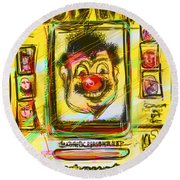 Wooly Willy Round Beach Towel