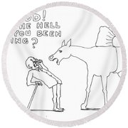 Words To Live By Round Beach Towel