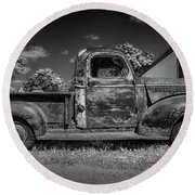 Work Truck Round Beach Towel