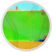 Working Late Round Beach Towel by Jan W Faul