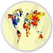World Map 04 Round Beach Towel
