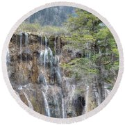 World Of Waterfalls China Round Beach Towel