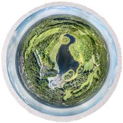 Round Beach Towel featuring the photograph World Of Whitnall Park by Randy Scherkenbach