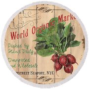 World Organic Market Round Beach Towel