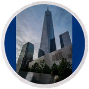 World Trade Center Remember Round Beach Towel