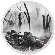 World War I: Battlefield Round Beach Towel