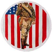 World War I: U.s. Marines Round Beach Towel