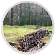 World War One Trenches Round Beach Towel