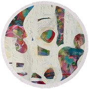 Worldly Women Round Beach Towel by Gail Butters Cohen