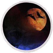 World's Fair Birds Round Beach Towel