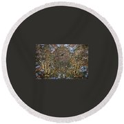Worlds Visible And Invisible Round Beach Towel