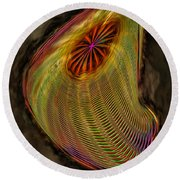 Wormhole In Space Round Beach Towel