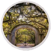 Wormsloe Plantation Round Beach Towel