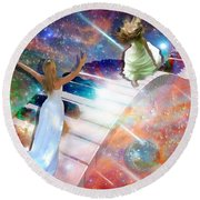 Worship In Spirit And In Truth Round Beach Towel