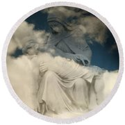 Round Beach Towel featuring the photograph Worship by Raymond Earley