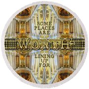 Worth Lining Up For Versailles Palace Chapel Paris Round Beach Towel