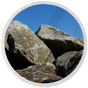 Worthing Beach Peaks Round Beach Towel