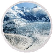 Wrangell Alaska Glacier Round Beach Towel