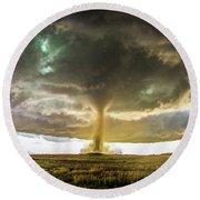 Wray Colorado Tornado 070 Round Beach Towel