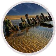 Wreck Cefn Sidan Round Beach Towel