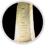 Wright Brothers' Memorial Round Beach Towel
