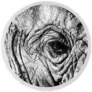 Wrinkled Eye Round Beach Towel