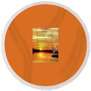 Writer, Artist, Phd. Round Beach Towel