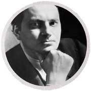 Writer Thomas Wolfe Round Beach Towel