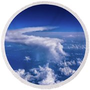 Writing In The Sky Round Beach Towel