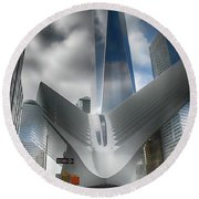Wtc Oculus - Freedom Tower Round Beach Towel