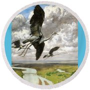 Wundervogel Round Beach Towel by Pg Reproductions