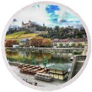Wurzburg, Bavaria, Germany Round Beach Towel