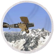 Round Beach Towel featuring the photograph Ww1 - Bristol Fighter by Pat Speirs