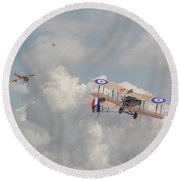 Round Beach Towel featuring the photograph Ww1 - The Fokker Scourge - Eindecker by Pat Speirs
