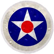 Round Beach Towel featuring the digital art Ww2 Army Air Corp Insignia by John Wills