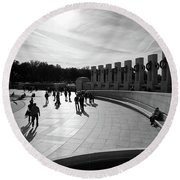 Wwii Memorial Round Beach Towel