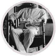 Wyatt Earp 1923 - Los Angeles Round Beach Towel