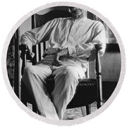 Wyatt Earp 1923 - Los Angeles Round Beach Towel