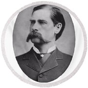 Wyatt Earp Autographed Round Beach Towel