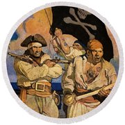 Wyeth: Treasure Island Round Beach Towel