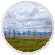 Wyoming-dwyer Junction Round Beach Towel