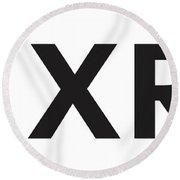 X R P Ripple Cryptocurrency Round Beach Towel