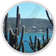 Round Beach Towel featuring the photograph Xanadu by Beto Machado