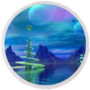 Xyxus Round Beach Towel