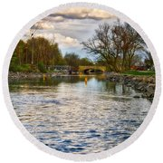 Yahara River, Madison, Wi Round Beach Towel