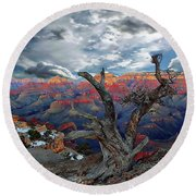 Yaki Point Grand Canyon Round Beach Towel