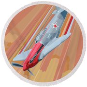 Yakovlev Yak-3 Pop Art Round Beach Towel