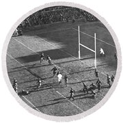 Yale Attempts Forward Pass Round Beach Towel by Underwood Archives