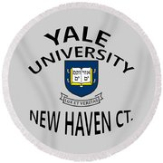 Yale University New Haven Connecticut  Round Beach Towel