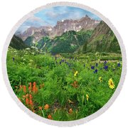 Yankee Boy Basin Round Beach Towel